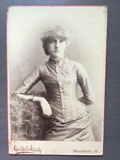 CABINET Card Photo Beautifully Dressed Young Lady Mansfield, Ohio