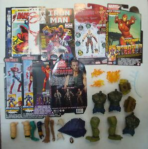 SBS Marvel lot Comic file card accessoires action figure Hasbro toy biz iron man