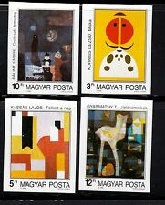 Hungary Sc 3209-12 Nh Imperf Issue Of 1989 - Modern Art