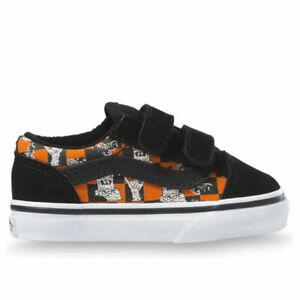 VANS Unisex Toddler True White Glow Sk8 Monsters Old Skool Sneakers 9.5T NIB