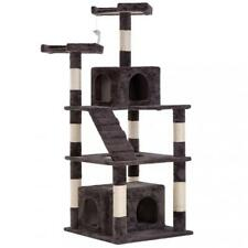 Cat Tree Tower Condo,Modern Indoor Multi-level Plush Cat Activity Center 64''
