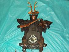 Vintage Large MI-KEN Deer Head w/ Rifle Design  Cuckoo Clock - parts or repair
