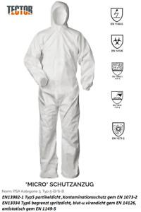 Einwegoverall Einweg Micro Schutzanzug Tector PSA Kat. 3 Typ 5/6 Asbest Chemie