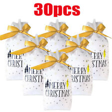 30 Christmas Party Gift Drawstring Candy Bags Packing Present Wedding Birthday