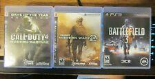 PS 3 WAR LOT: 3 GAMES - CALL OF DUTY 4 & MODERN WARFARE 2 & BATTLEFIELD 3 TESTED