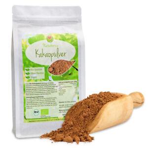 Naturherz BIO Kakao Pulver Kakaopulver Cocoa zuckerfrei entölt 10-12% Fett