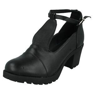Mädchen Red Tag Schwarz Absatz Schuhe H3030