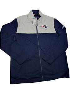 Nike New England Patriots NFL Full Zip Jacket Navy Blue Gray NKB6-006Y Size M