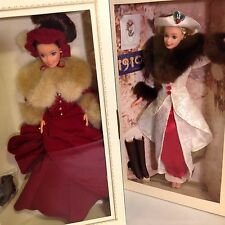 LOT 2 Hallmark CHRISTMAS Barbie Doll '94 Victorian Elegance '95Holiday Memories