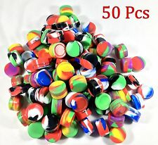 50 5ml Silicone Jar Containers Nonstick Mixed Colors New 5 ml wholesale lot