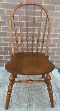 RARE! Ethan Allen Heirloom Nutmeg Maple Bowback Side Dining Chair 10-6211