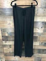 Caslon Women's Black Linen Blend Pull On Pants With Drawstring Size Small