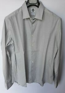 camicia uomo slim fit manica lunga elegante cotone casual bianca nera BAGUTTA L