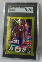 2020-21 Topps Match Attax UEFA RS1 Ansu Fati Rising Star SGC 9.5 MT+