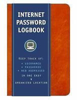 Internet Password Logbook (Cognac Leatherette): Keep track of: usernames, pas...