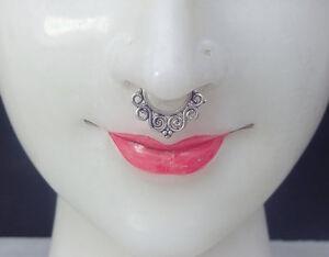 Black Piercing Septum Silver Nose Clicker Gold Nose Piercing Clicker Fake Septum