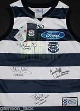 Geelong 2009 Premiers Thompson/Harley/Ablett/Chapman Signed Guernsey