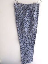 NEW YORK& COMPANY FLORAL PANTS SIZE 14 FREE SHIPPING