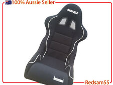 Racing SEAT by Autotecnica with FIXED BACK - FIBERGLASS - SS07C All Blk -