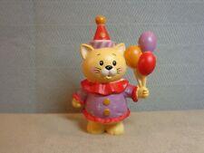 Vintage 1984 Enesco Calico Kittens Birthday Cat w/ Balloons 3� Figure (Vin29)