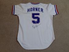 9e1636752 Bob Horner Game Worn Signed Home Jersey 1981 Atlanta Braves
