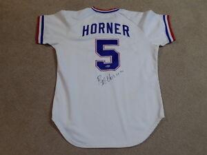 Bob Horner Game Worn Signed Home Jersey 1981 Atlanta Braves