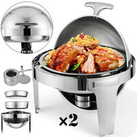 2 Set Chafing Dish Pans 6 QT(6.8 L) Party Pack Inviting Food Pans Food Warmer