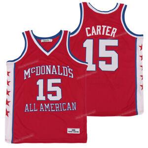 1995 Vince Carter #15 McDonald's Basketball Jerseys All Sewn All American Jersey