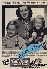 1939 DR PEPPER advertisement CHILD PSYCHOLOGY 5 CENTS Soda Pop AD soft drinK