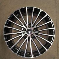 RH Multispoke 8 x 18 Zoll ET 35 5x112 black front polished Alufelge NEU
