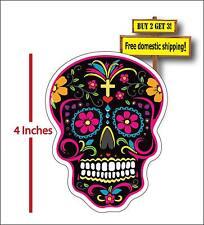 Sugar Skull Day of the Dead Mexican Sugar Skull Car Truck Decal Sticker DOD13