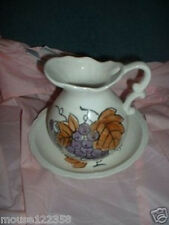 Vintage Basin Set Water Pitcher w underplate Japan