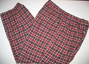 DISNEY STORE EXCLUSIVE - 100% COTTON PLAID PAJAMA BOTTOMS LOUNGE PANTS - XL
