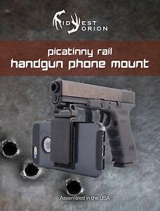 Handgun   Phone  Smartphone Mount   Picatinny   Rail   Rifle   Glock   HK   sig