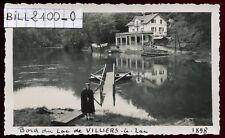 Villers-le-Lac ( Doubs )  BORDS DU LAC .  photo ancienne .1948