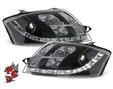 SCHEINWERFER AUDI TT 8N 98-05 SCHWARZ LED TAGFAHRLICHT LINKS RECHTS H7 DRL R87