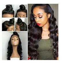 High Quality Lace Front Wig Black Color Body Wave Hair Heat Resistant Lace Wig