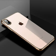 For iPhone XS Max XR Clear Shockproof Case Ultra Slim Soft Silicone Back Cover