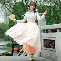 Women's Dress Tops Skirt Suit Ancient Costume 2 Pcs Set Hanfu Chinese Cosplay