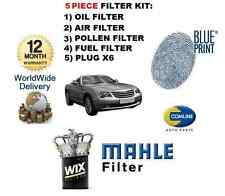 FOR CHRYSLER CROSSFIRE 2003-2007 SERVICE KIT OIL AIR FUEL POLLEN FILTER + PLUGS