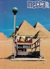 1997 TOWER RECORDS mecca USA United SPORTS Apparel MECCA Postcard Egypt PYRAMIDS
