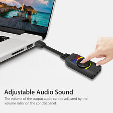 3.5mm Stereo Sound Card for Headset Mic Ps4 Laptop PC External USB Audio Adapter