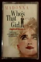 Madonna Who's That Girl 1987 Musicassetta Nuova Sigillata Prima Stampa Sire