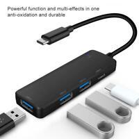 USB HUB TypeC 2.0 High Speed 4 Port Multi Splitter Expansion Card PC Adapter SPS