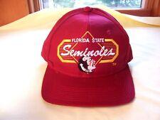 "Vintage Florida State Seminoles Hat NCAA ""Top of the World"" Dark Red Garnet Cap"