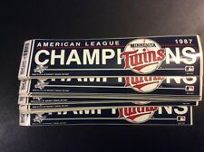 (25) Minnesota Twins 1987 American League Champions Bumper Stickers