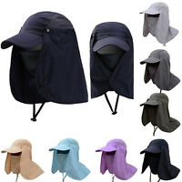 Unisex Outdoor Legion Legionnaire Hats Summer Sun Neck Flap Caps Fishing Camping