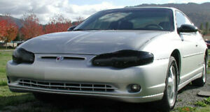 Fits 00-05 Monte Carlo LS LT SS GTS Acrylic Smoke Headlight Covers Pair GT0247S