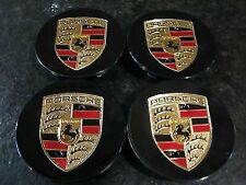 Black Porsche Wheel Centre Caps 911 Cayman Boxster Cayenne