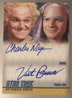 Star Trek TOS Heroes & Villains Dual DA26 Autograph Card Charles Napier & Brandt